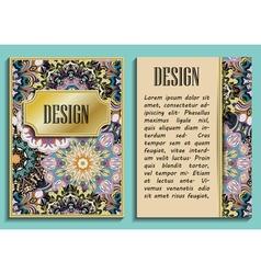 Bright elegant design for wedding invitations vector image