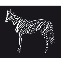 caballo resize vector image