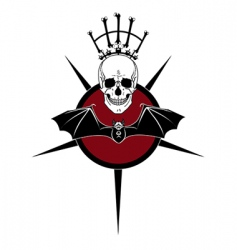 deaths head and bat vector image vector image
