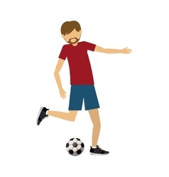 male athlete practicing football soccer isolated vector image