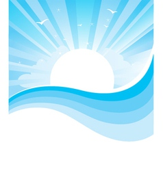 Seascape nature vector image vector image