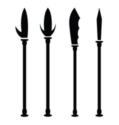 spear icon set vector image vector image