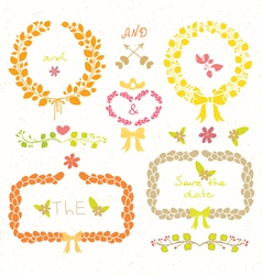 Wedding romantic set vector image