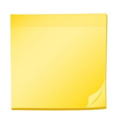 A topview of a pad of yellow post-it vector image vector image