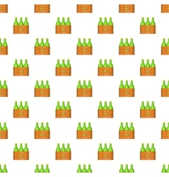 Box of beer pattern cartoon style vector image vector image