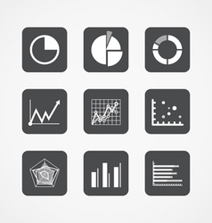 Information chart icons collection vector image vector image