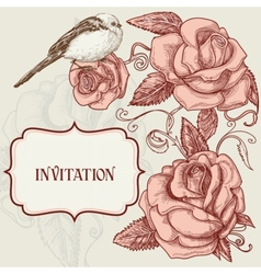 invitation template vector image vector image