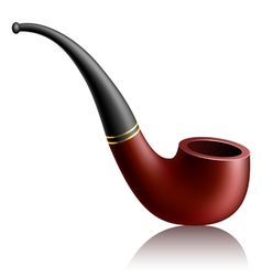 Realistic tobacco pipe vector image vector image