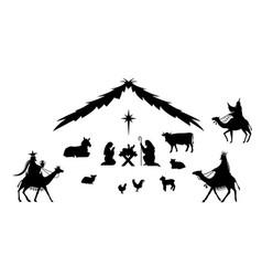 traditional christmas scene vector image