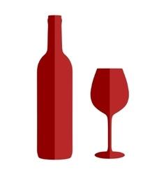 Wine icon set flat style vector