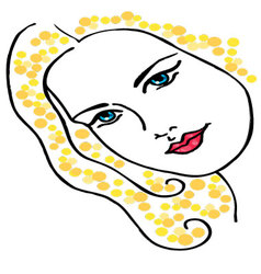 woman face drawing vector image