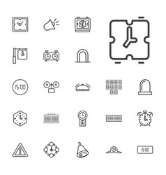 22 alarm icons vector