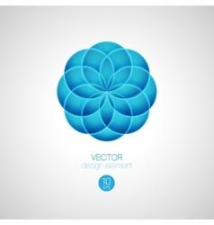 3d circle design element vector image