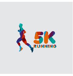 5 k running template design vector
