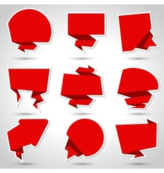 Abstract origami speech bubble background eps 10 vector