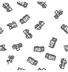agricultural vehicles seamless pattern vector image