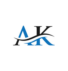 Ak letter linked logo for business and company vector