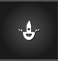 apron icon flat vector image