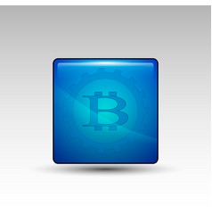 Bitcoin sign in gear vector