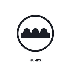 Black humps isolated icon simple element from vector
