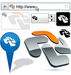 Business cross abstract logo design vector