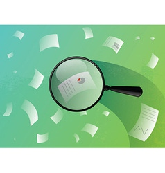 business paper search vector image