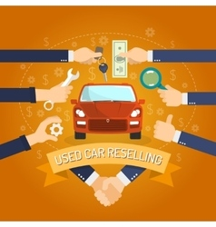 Car Reselling Concept vector image