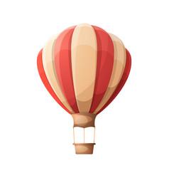 cartoon air balloon vector image