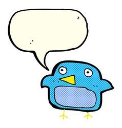 Cartoon bluebird with speech bubble vector