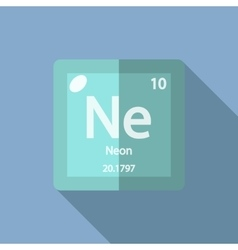 Chemical element Neon Flat vector