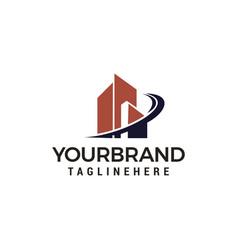 city building logo template design vector image