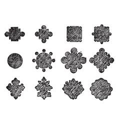 Columns gothic vintage engraving vector