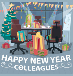 congratulations happy new year from colleagues vector image