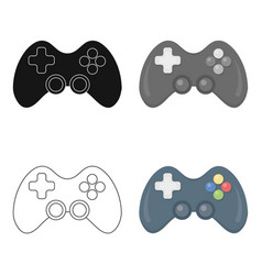 controller cartoon icon for web and vector image