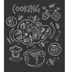 Cooking Chalkboard Drawing vector image