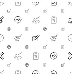 Correct icons pattern seamless white background vector