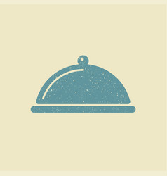 covered with a tray of food icon vector image