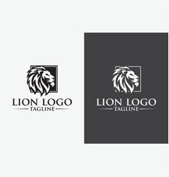 creative lion king logo image vector image