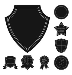 design of emblem and badge sign collection vector image