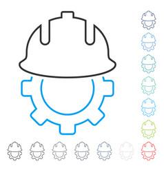 development helmet stroke icon vector image