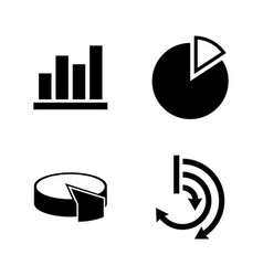 diagram graphs simple related icons vector image