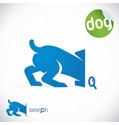 Dog Search Icon vector