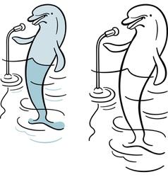 Dolphin orator vector