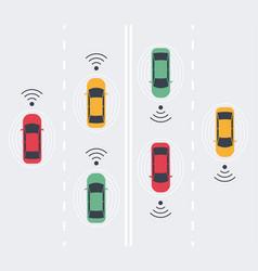 Driverless smart car autonomous vehicle auto vector