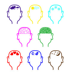 empty mans heads outline vector image