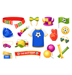 fan attributes sport competition celebration and vector image