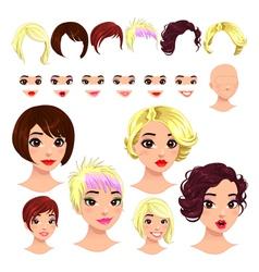 Fashion female avatars vector
