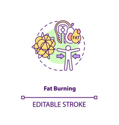 Fat burning concept icon vector