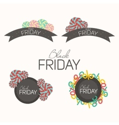 Frame Black Friday for typography vector image