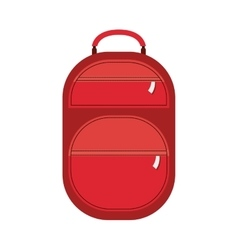 Full color suitcase with pockets with zipper vector
